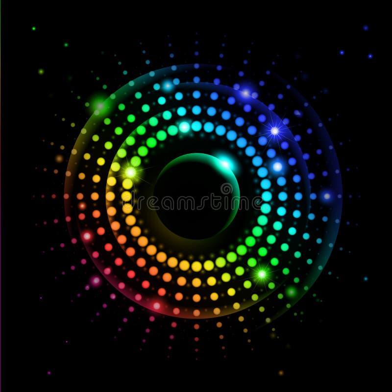 abstrakt stråle för regnbåge 2 vektor illustrationer