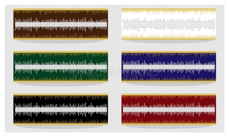Abstrakt strömkretsbräde till kanfasen, ramar, dekorativ beståndsdel royaltyfri illustrationer