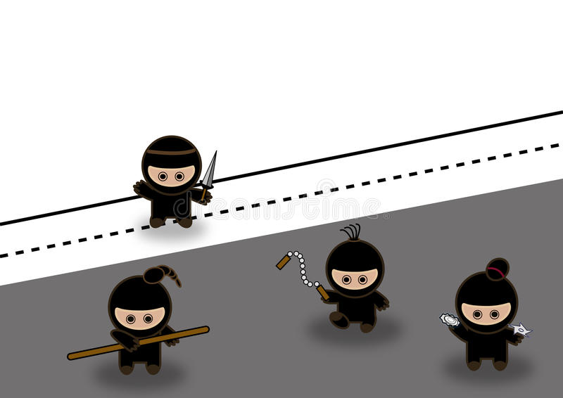 abstrakt stridighetninjas stock illustrationer