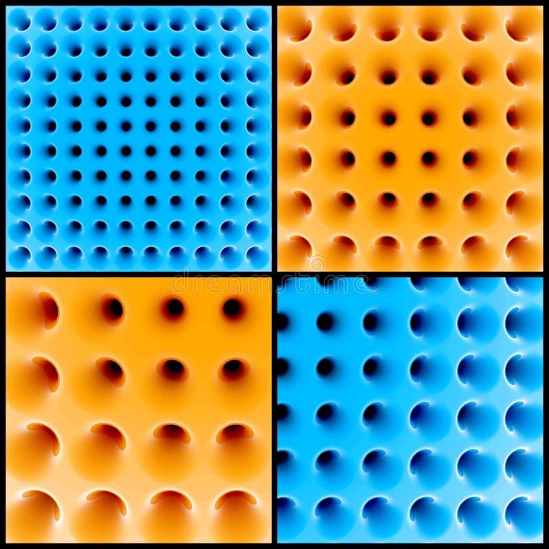 Abstrakt struktur för honungskaka 3d royaltyfri illustrationer