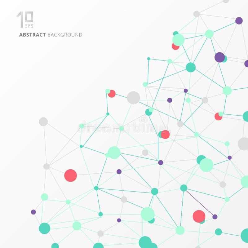 Abstrakt strukturmolekyl och vetenskaplig backgro för kommunikation vektor illustrationer