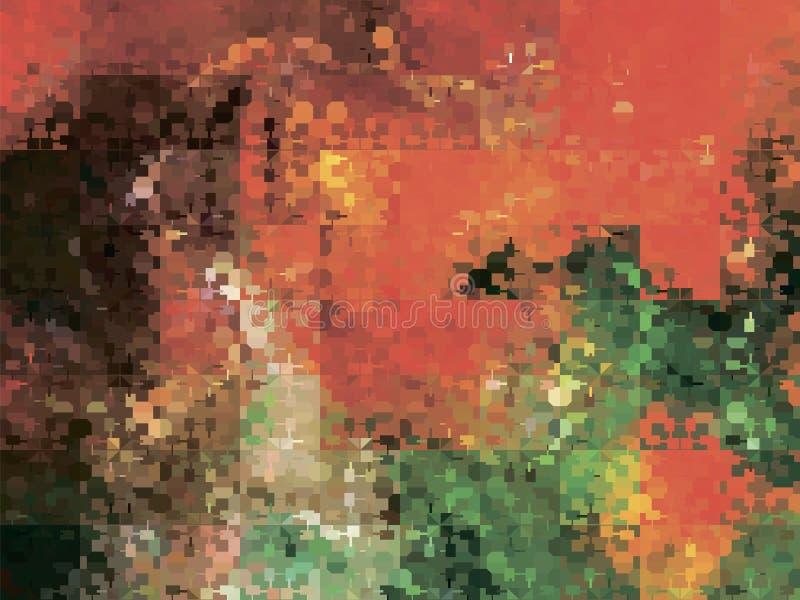 Abstrakt stylizujący multicolor tło lawy odciek ilustracja wektor