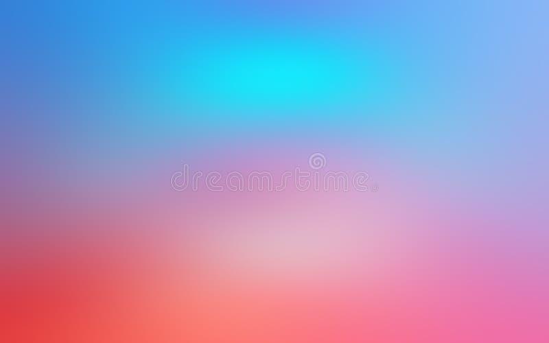 Abstrakt suddig bakgrund av fluorescerande färger för lutning vektor illustrationer