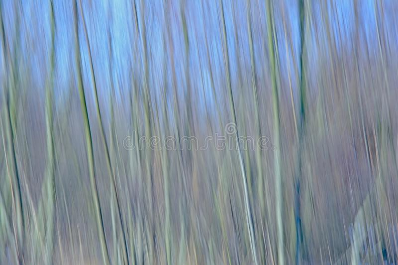 Abstrakt suddig bakgrund för rörelse med vertikala linjer i ljus - blåa toner arkivbild