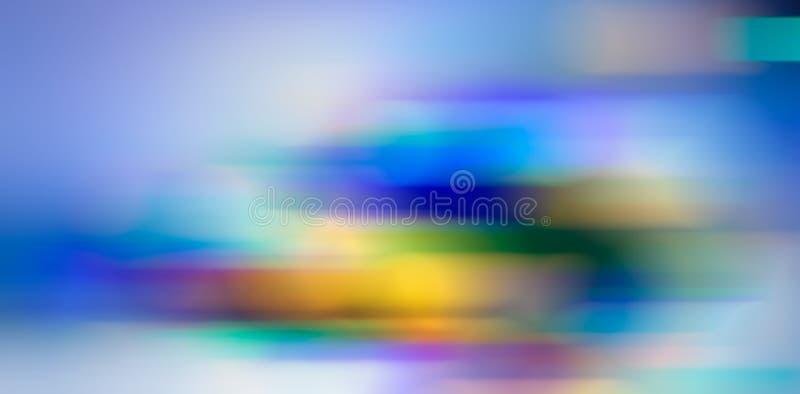 Abstrakt suddig bakgrund, horisontalfärgfläckar i ljus ton vektor illustrationer