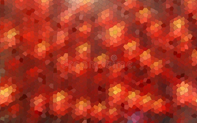 Abstrakt suddig bakgrund i rött med mosaikkonstverkeffekt royaltyfri foto
