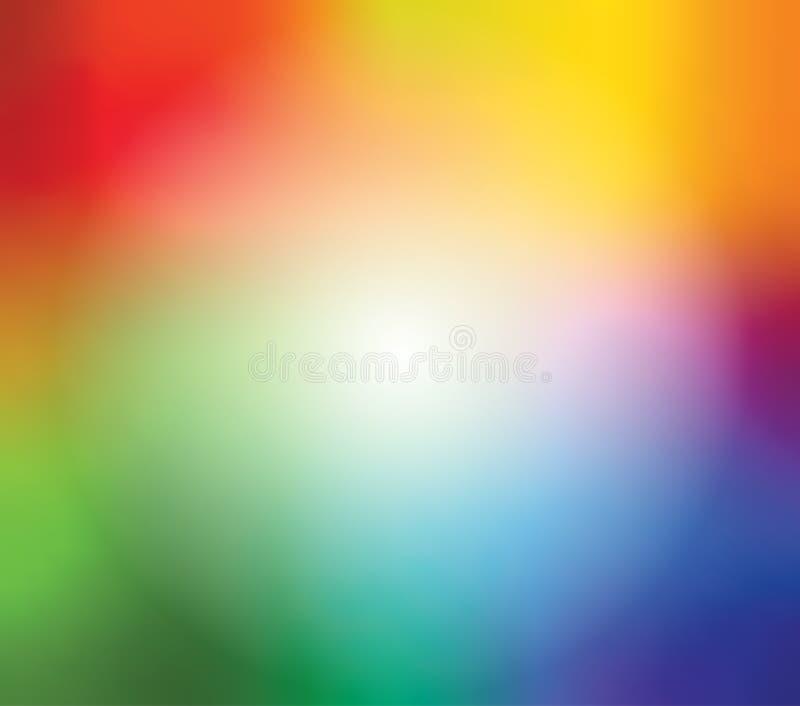 Abstrakt suddig lutningingreppsbakgrund i ljus regnbåge färgar Färgrik slät banermall Lätt redigerbart mjukt royaltyfri illustrationer