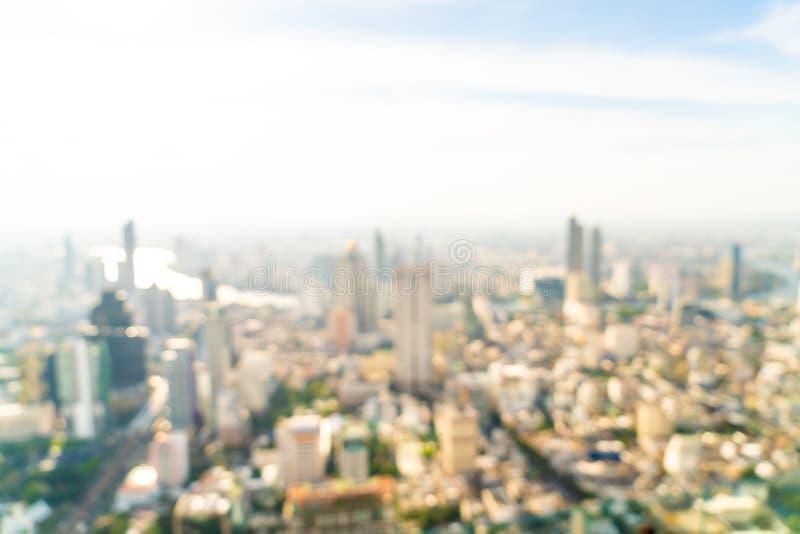 abstrakt suddighet och defocused Bangkok cityscape i Thailand arkivfoton
