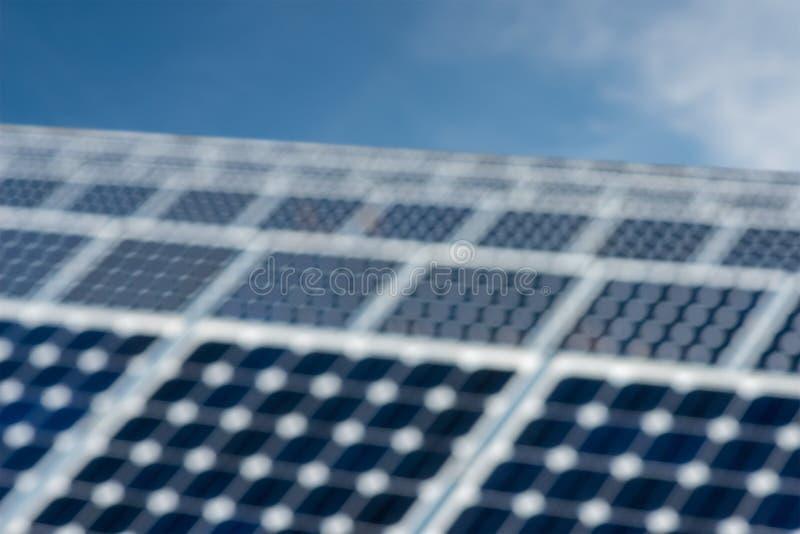 Abstrakt suddighet - solpanel, photovoltaic alternativ elektricitetskälla arkivfoton