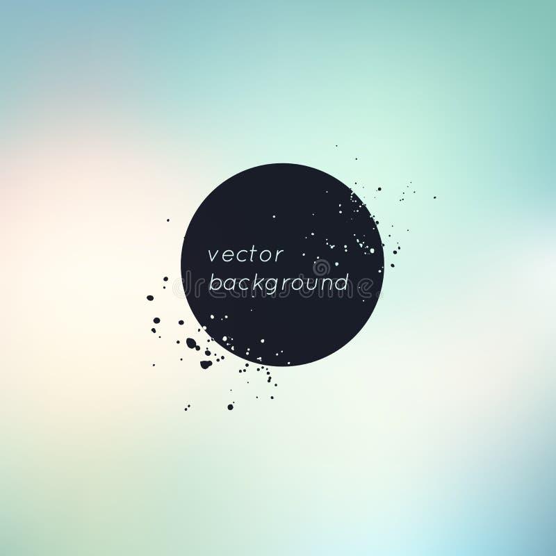 Abstrakt suddighetsbakgrund med stället för text och dekorativa fläckfärgstänk Modern universell neutral bakgrund brigham stock illustrationer