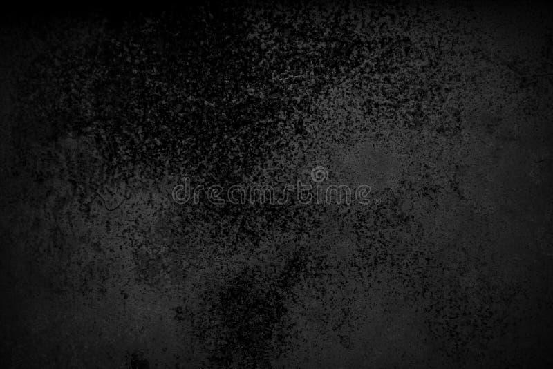 Abstrakt svart bakgrund med bekymrad åldrig textur för buse, bakgrund för färg för grungekol grå för tappningstilkort eller rengö royaltyfri fotografi