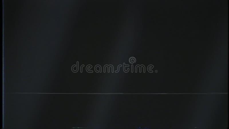 Abstrakt svart bakgrund med flödande långsamt vita strålar av ljus och skimraoväsen av en signal, sömlös ögla stock illustrationer