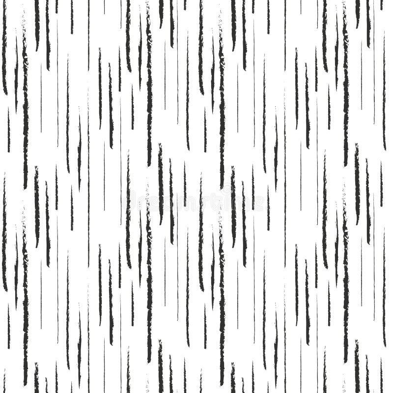 Abstrakt svart färgpulvergrunge fodrar den sömlösa modellen stock illustrationer