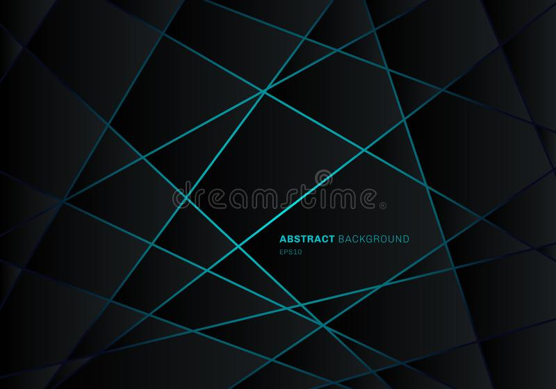 Abstrakt svart geometrisk polygon p royaltyfri illustrationer