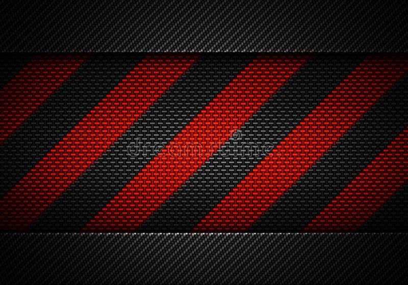 Abstrakt svart kol texturerad materiell design med varningsbandet stock illustrationer