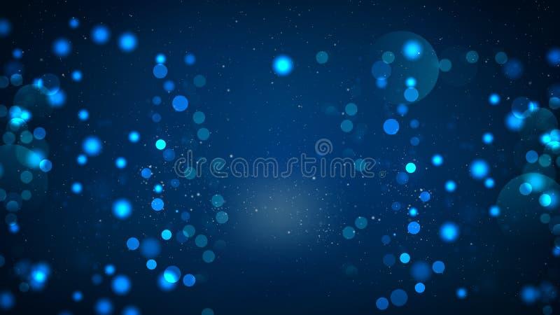 Abstrakt svart och blå oskarp ljusbakgrund vektor illustrationer