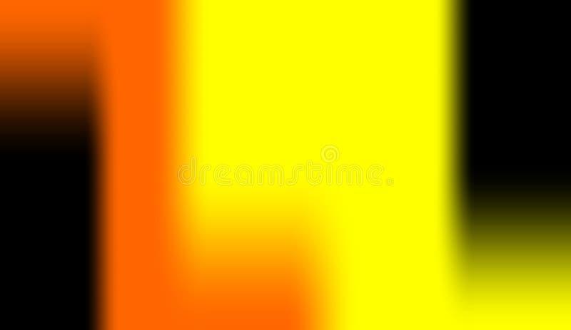 Abstrakt svart orange gul för färgeffekter för färg mång- bakgrund royaltyfri bild