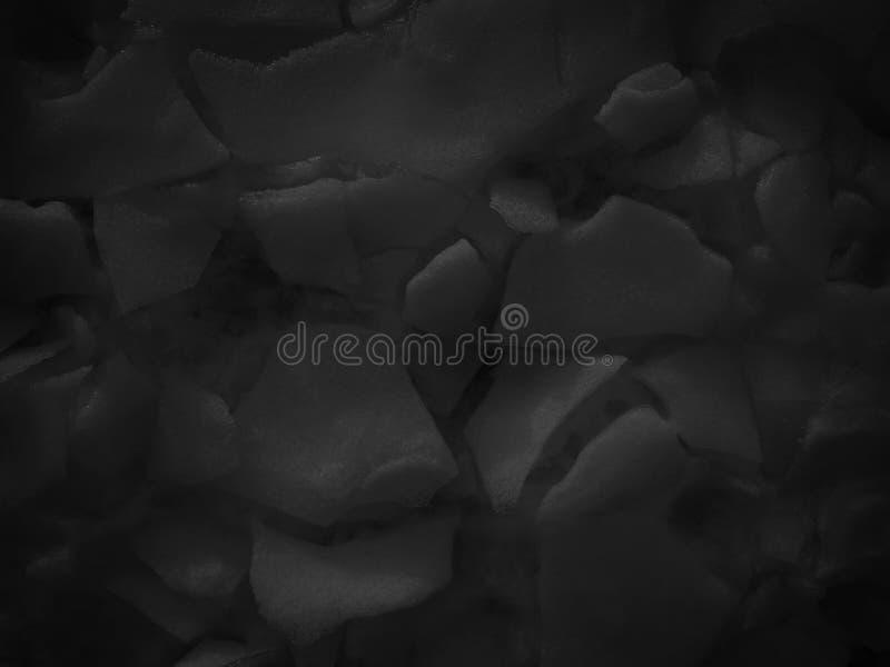 Abstrakt svart vit snötextur fotografering för bildbyråer