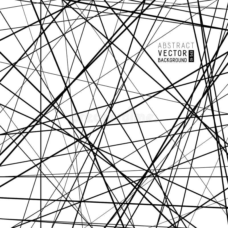Abstrakt svartvit bakgrund för universal från genomskärning royaltyfri illustrationer