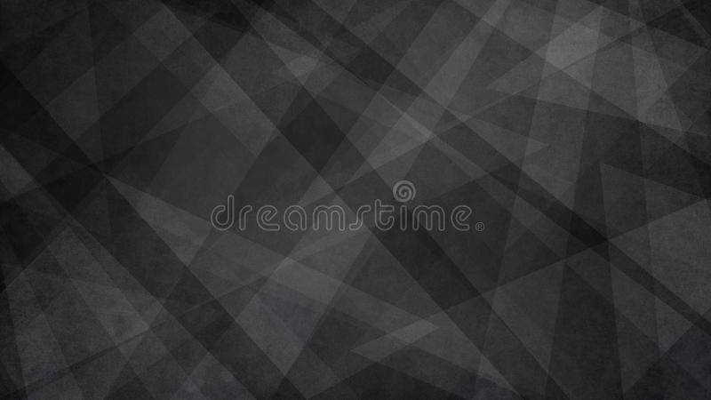 Abstrakt svartvit bakgrund med den slumpmässiga geometriska triangelmodellen Elegant mörkt - grå färg vektor illustrationer