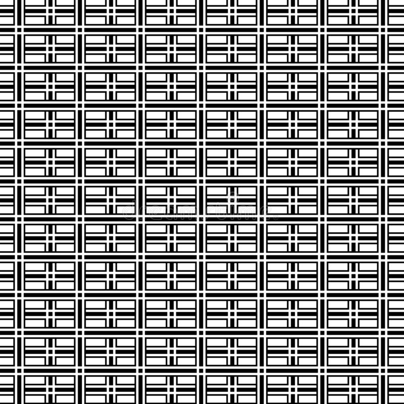 Abstrakt svartvit geometrisk modellbakgrund för op konst vektor illustrationer