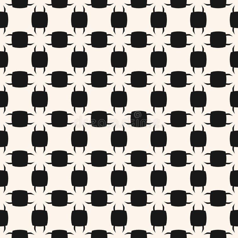 Abstrakt svartvit geometrisk sömlös modell för vektor med vektor illustrationer
