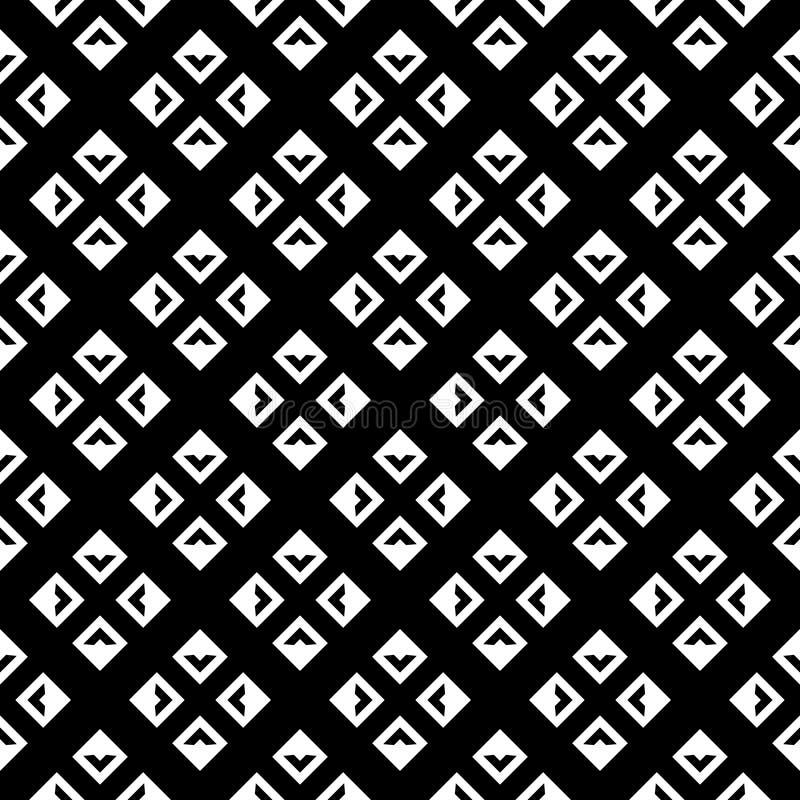 Abstrakt svartvit texturerad geometrisk sömlös modell stock illustrationer
