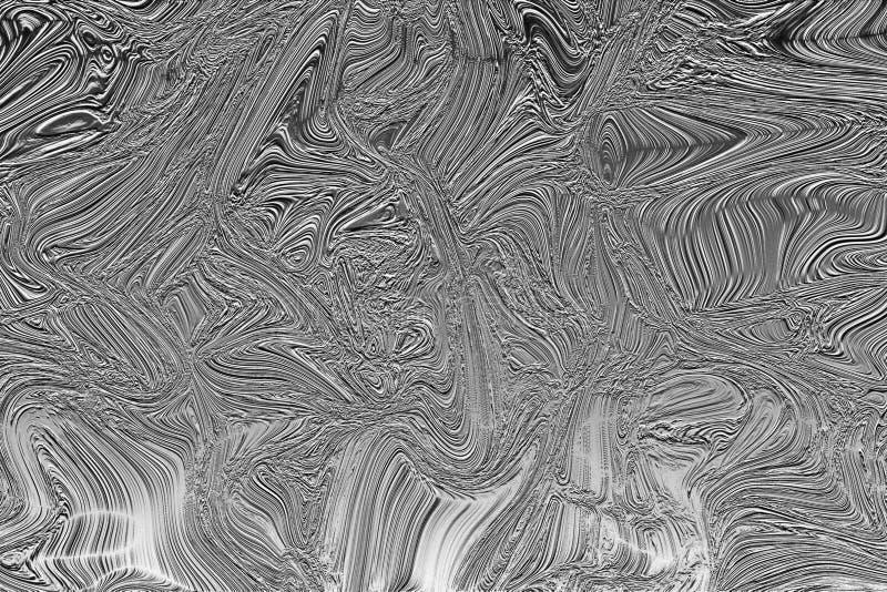 Abstrakt svartvit vätskebakgrund royaltyfri fotografi