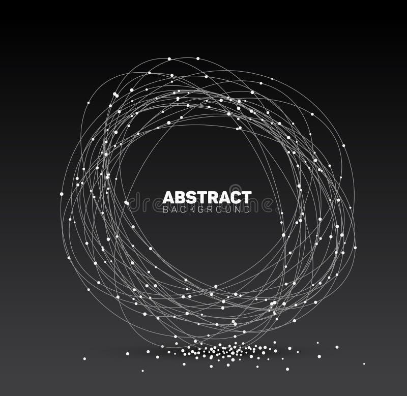Abstrakt svartvit vektorbakgrund royaltyfri illustrationer
