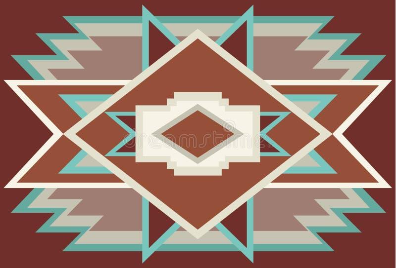 Abstrakt sydvästlig infödd bakgrund röd 1 vektor illustrationer