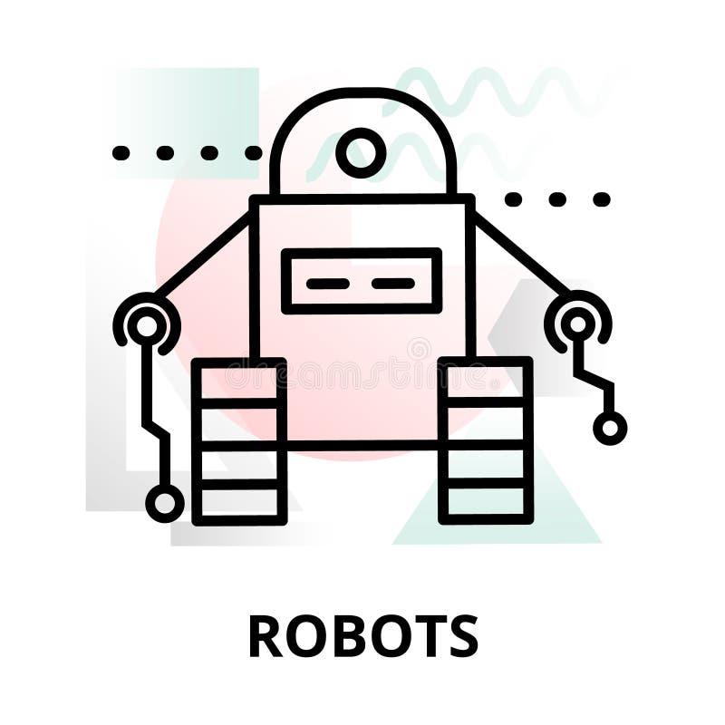 Abstrakt symbol av robotar vektor illustrationer