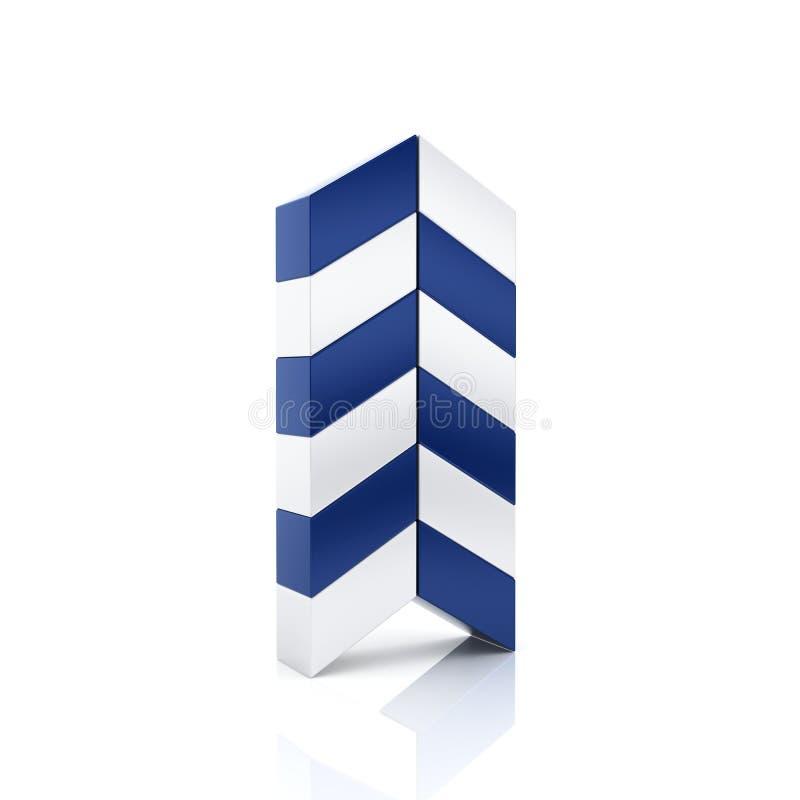 Abstrakt symbol för blåttaffärspil royaltyfri illustrationer