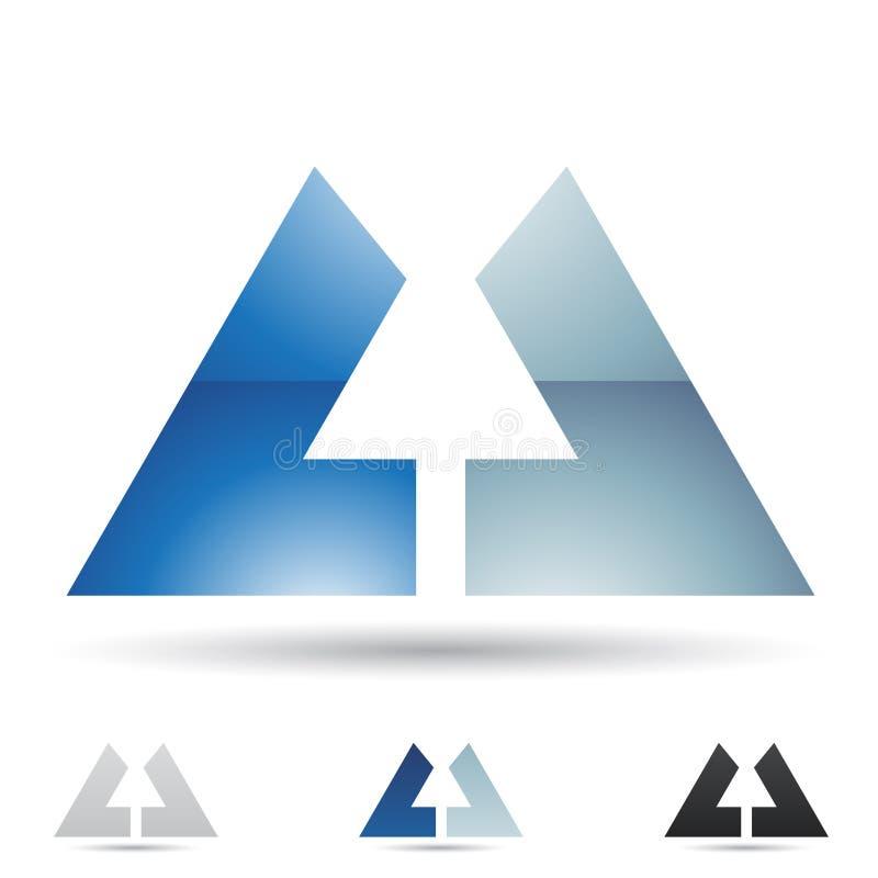 Abstrakt symbol för bokstav U vektor illustrationer