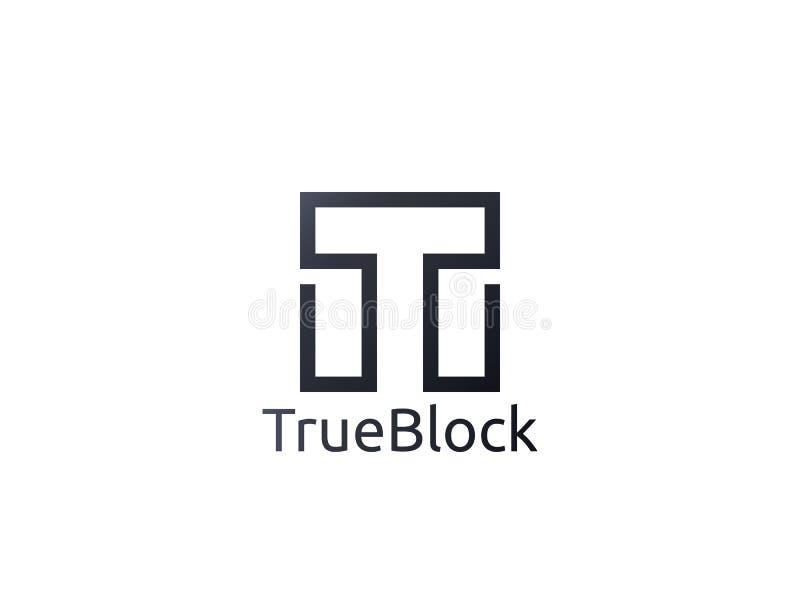 abstrakt symbol för logo för alfabetbokstav T tecken för kvarter för vägg för golvtegelplatta stock illustrationer