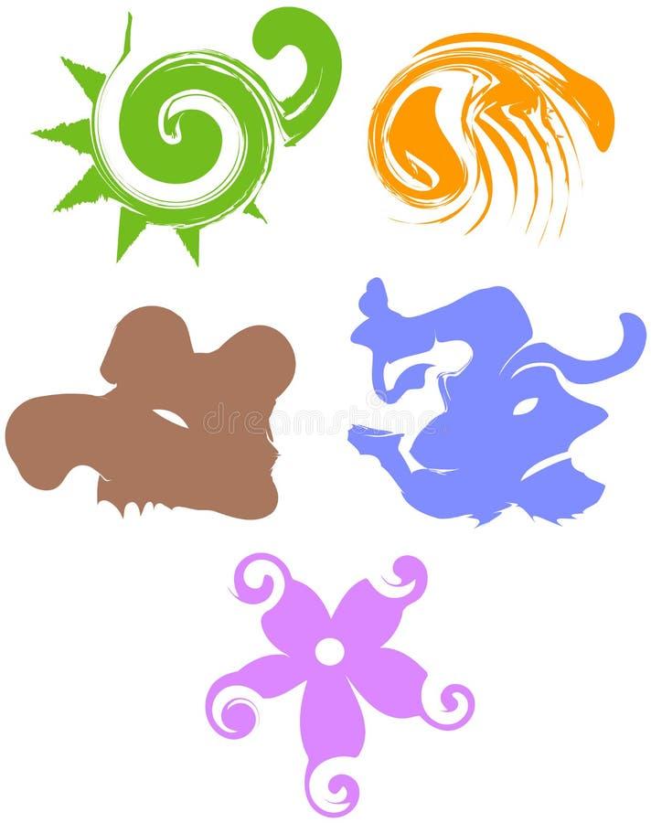 abstrakt symboler stock illustrationer
