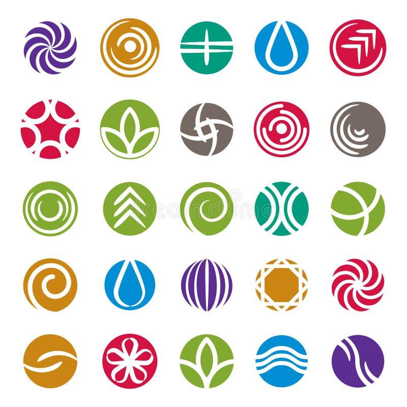 Abstrakt symbolsuppsättning, vektorsymbolsamling royaltyfri illustrationer