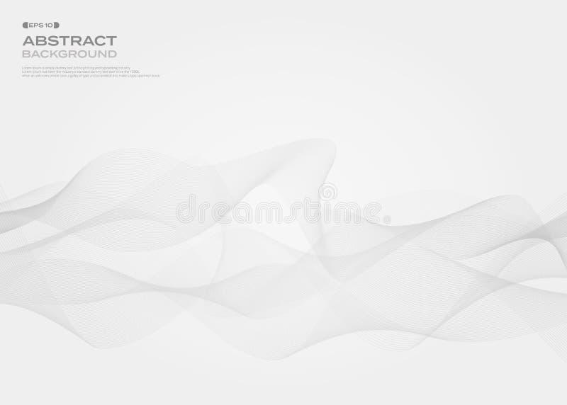 Abstrakt szarość uwalnia stylowego lampas linii wzoru tło, vect royalty ilustracja