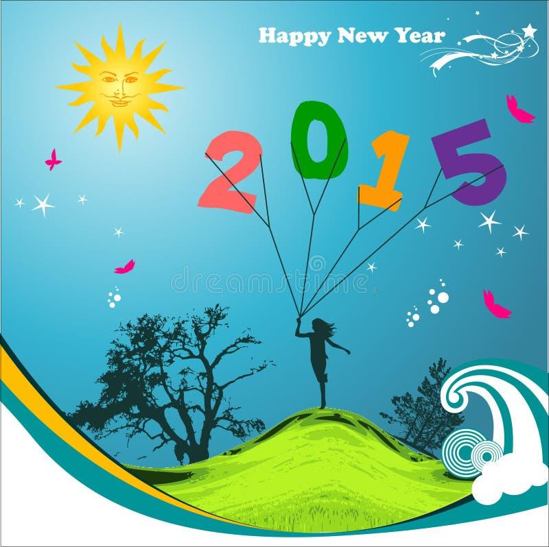 Abstrakt Szczęśliwy nowy rok 2015 ilustracja wektor