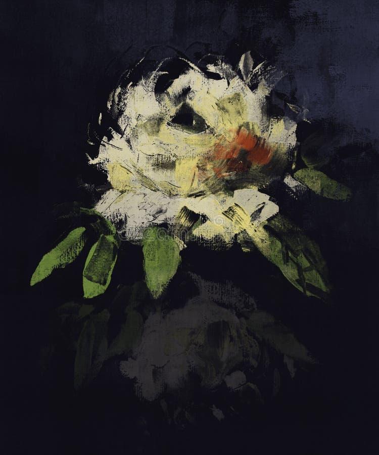 Abstrakt sztuki różany obraz ilustracji