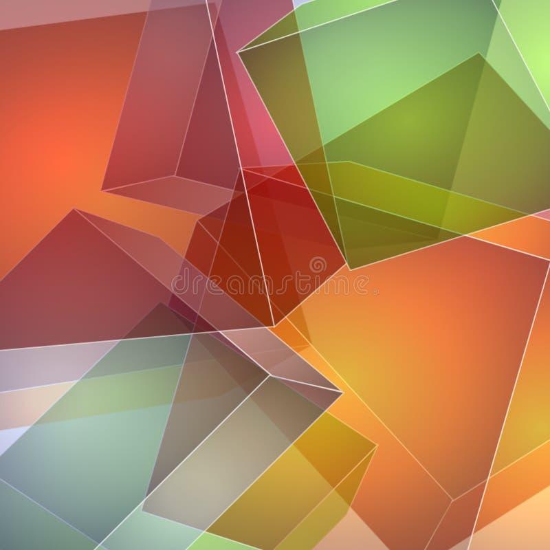 abstrakt täckande fyrkanter stock illustrationer