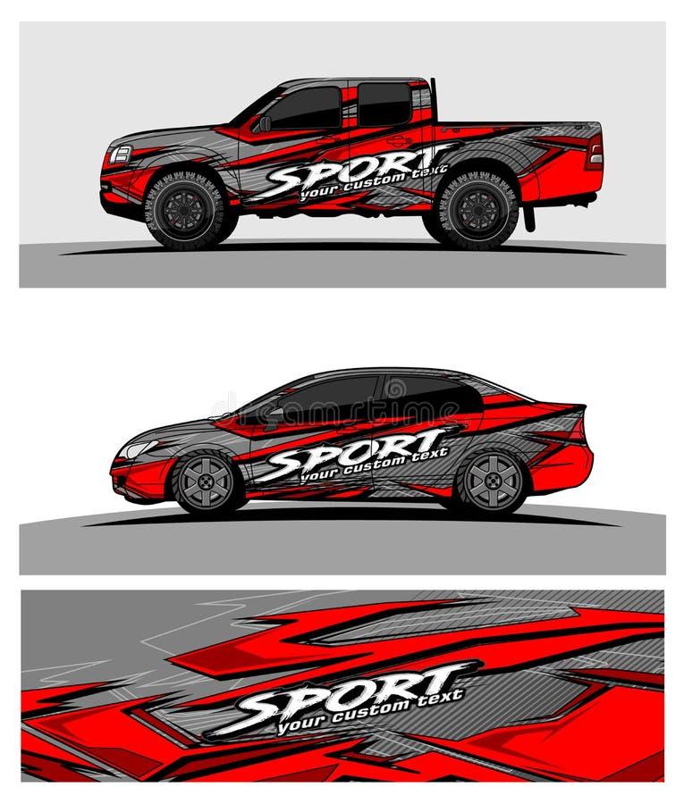 Abstrakt tävlings- bakgrund för lastbilbil och medel royaltyfri illustrationer