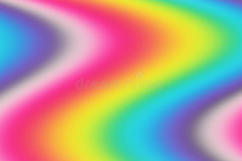 Abstrakt t?czy zamazany t?o Kolorowa tapeta Jaskrawi kolory ilustracja wektor