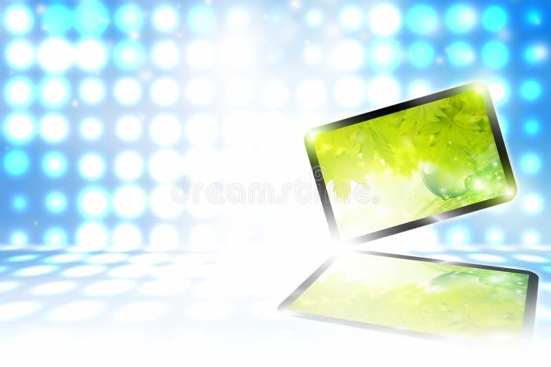 Abstrakt tabletPC stock illustrationer