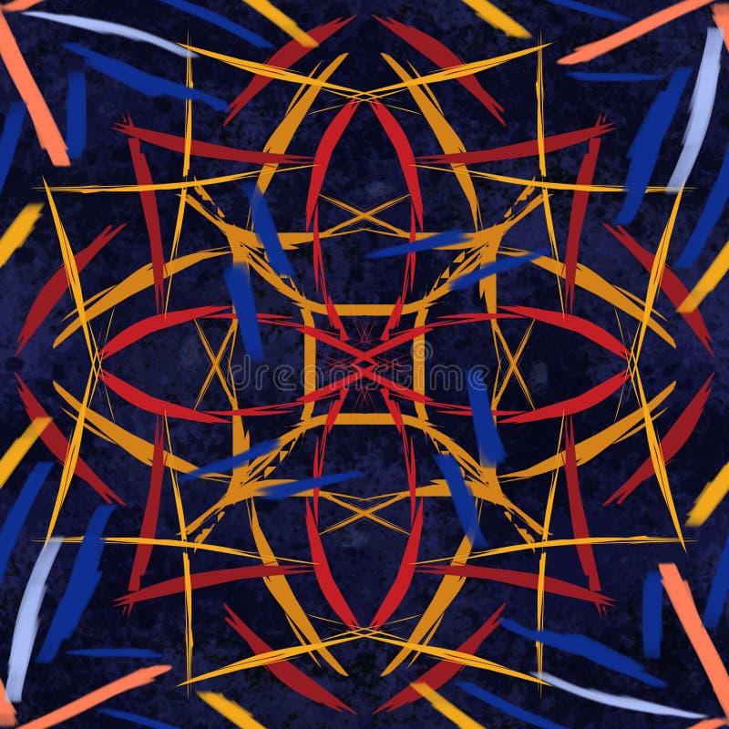 Abstrakt tafluje bezszwową malującą teksturę obraz royalty free