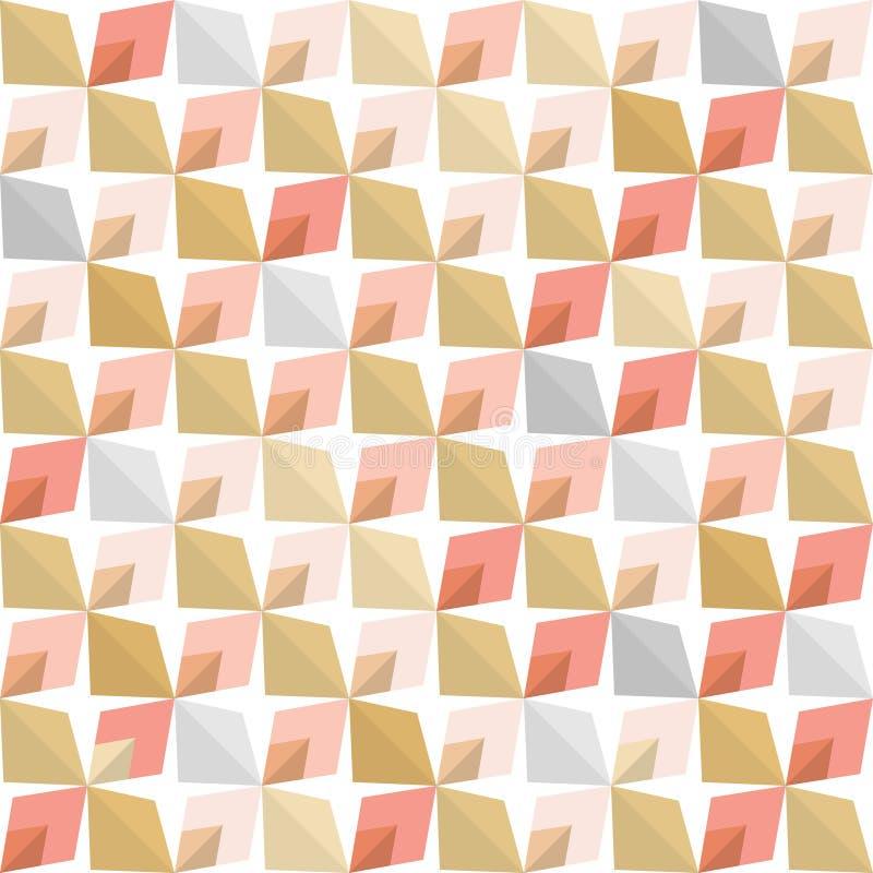 Abstrakt 70-talgeometri vektor illustrationer