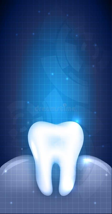 Abstrakt tanddesign, tand- illustration vektor illustrationer