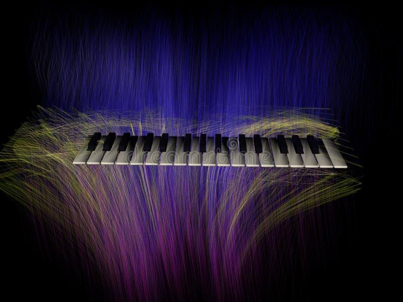 abstrakt tangentbordpiano stock illustrationer