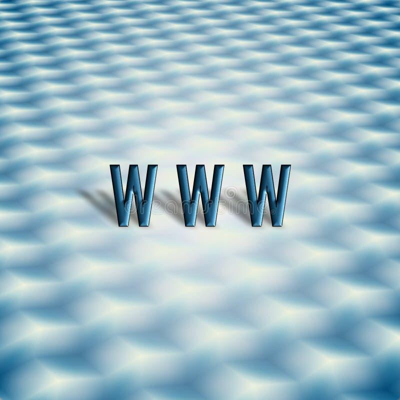 Abstrakt Tangentbordsymbol Www Arkivfoton
