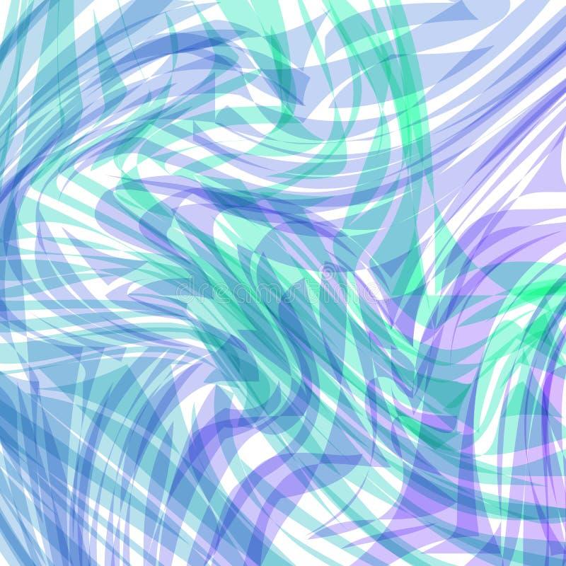 Abstrakt tapetillustration av krabb flödande energi och färger stock illustrationer