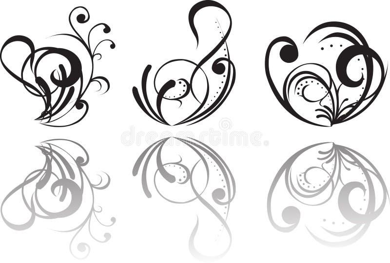 abstrakt tatuering royaltyfri illustrationer